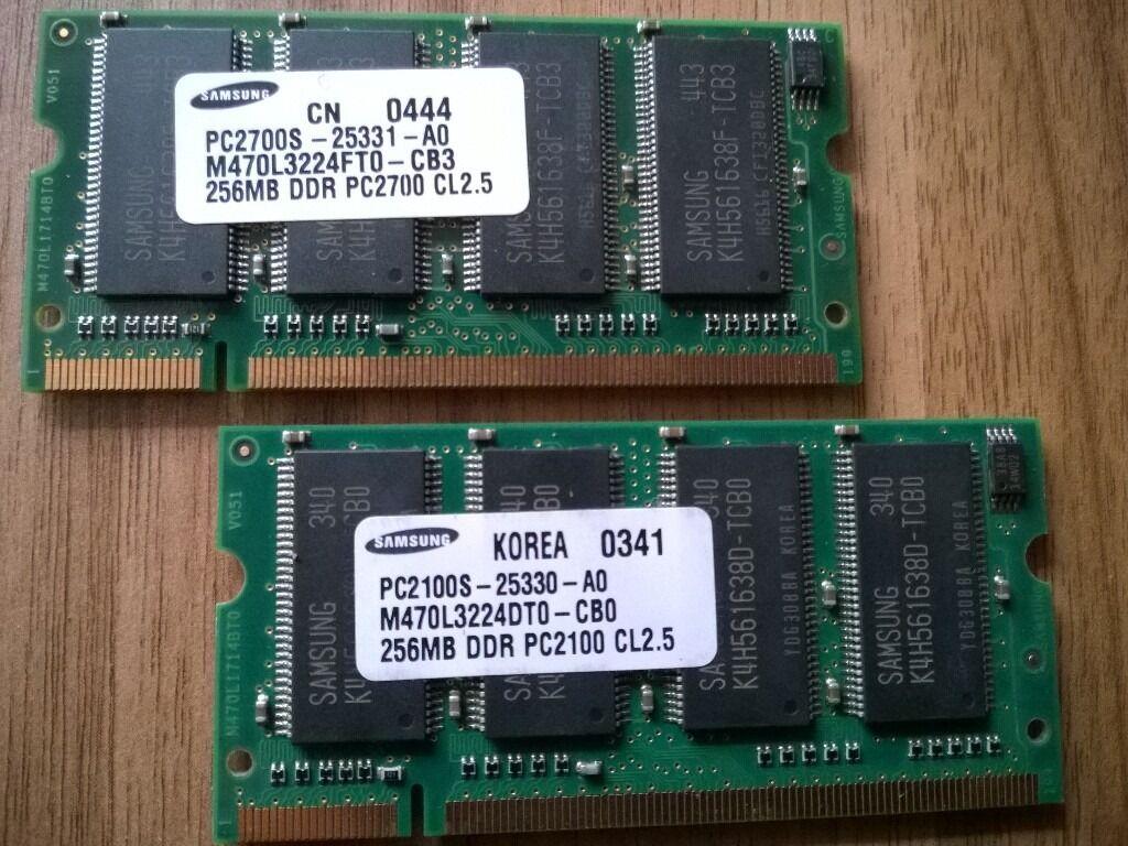RAM CHIPS (LAPTOP & DESKTOP - various memory sizes)