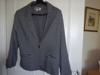 Anise navy striped Jacket size 14