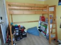 Kids Ikea pine high bed