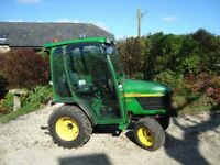 John Deere 4110 Compact Tractor with cab