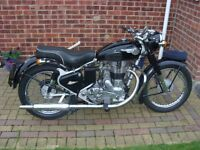 1953 Royal Enfield 350cc matching engine and frame numbers with V5