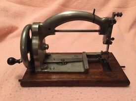 Rare 1920's Salter's Ideal All Nickel Plated Hand Crank Sewing Machine & Cover (offers accepted)