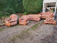 Stunning full suite of sofas / chairs