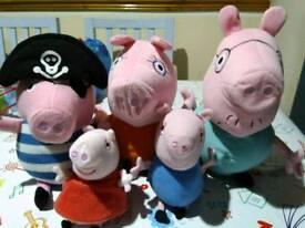 Peppa pig softbtoys