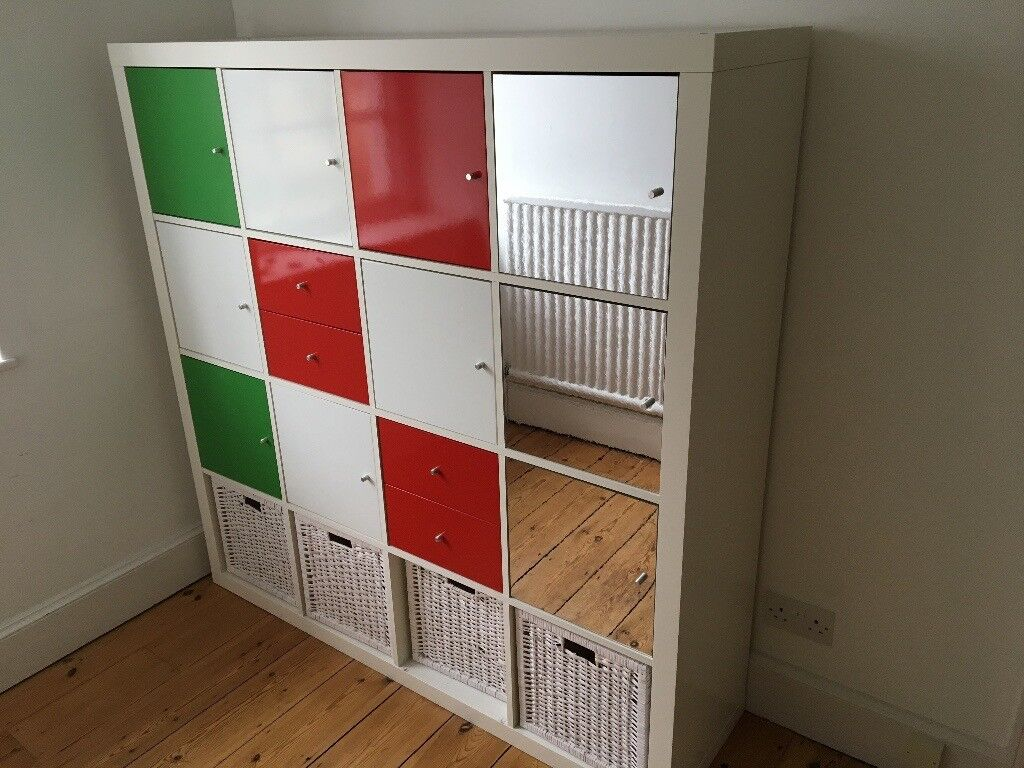Cube Storage Unit With Doors And Baskets Ikea