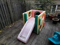 Little Tikes garden toys - slide, play cube and rocking horse - £20 for the lot