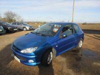 Peugeot 206 1.1 Petrol Service history blue 3 door