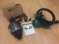 Asbestos mask, scott pro mask with battery and charger