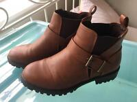 Lovely brown boots uk women's size 3 stretchy sturdy sole