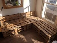 11 Pallets - 1200 x 1000 EPAL grade, front sanded for use as furniture