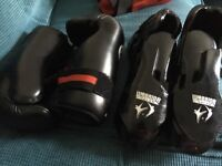 Sparring gloves and shoes black XL