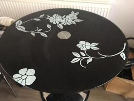 Round floral dining table (no chairs)