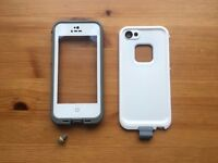 White waterproof case for iPhone 5 5S