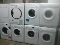 For sale washing machine from £80 & tumble dryer from £65 all g.teed please see latest pictures A&S
