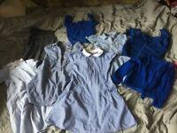 Bundle of girls summer school dressses blue