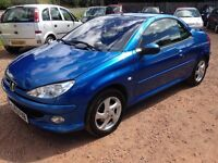 2003 PEUGEOT 206cc Convertible! 1.6 ONLY 58,000 MILES! 1 YEAR MOT