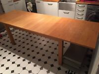 Solid timber wood dinning table