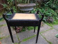 Original Victorian ebonised piano seat.