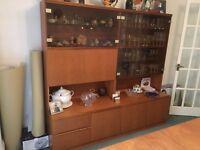 McIntosh Dinning Suite display cabinet teak lights