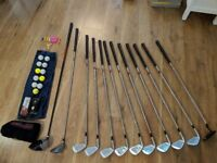 Full Set of Golf Clubs, TaylorMade Golf Bag & Accessories