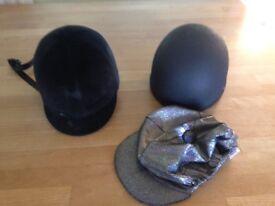 Child's horse riding hats x2