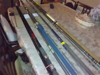 4 nice used fishing rods. Old but no signs of wear or damage. No longer use them and need the space.