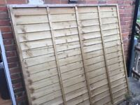 6ft x 6ft Fence Panels by Larchlap x 4