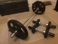 Olyimic weight set rubber coated steel weights