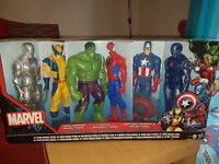 Marvel titan series, collector figures.