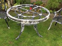 Cast Aluminium Garden Table And Chairs in need of TLC