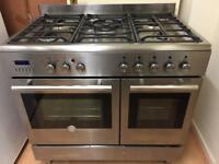 Stainless steel 90cm gas cooker