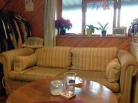 FREE 3 Seater Striped Sofa