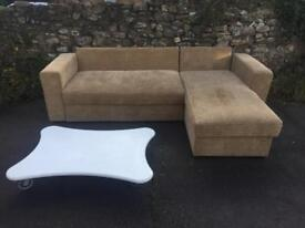 Reduced: Corner sofa bed and coffee table (sold separately)