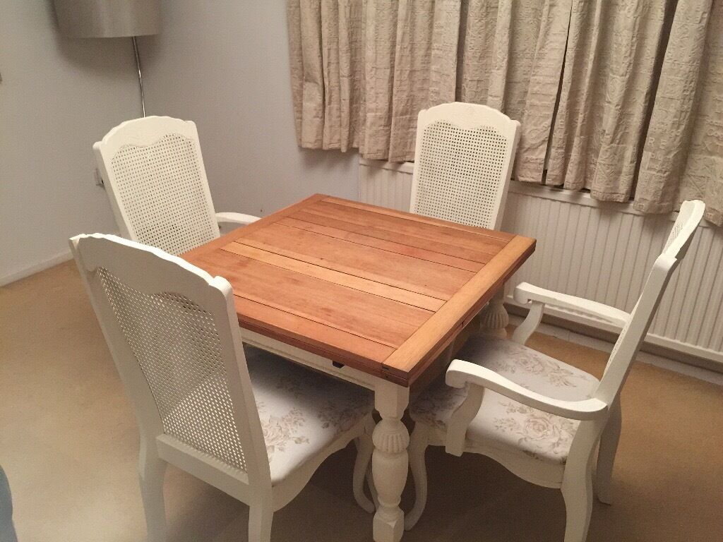 shabby chic dining table set 4 6 seater in hemel hempstead hertfordshire gumtree. Black Bedroom Furniture Sets. Home Design Ideas