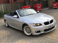 2008 BMW 320I 3 SERIES 2.0 M SPORT CONVERTIBLE AUTOMATIC PETROL SILVER GREAT DRIVE N A5 325 320 330