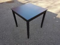 Ikea Black/Brown Square Dining Table 74cm FREE DELIVERY 621