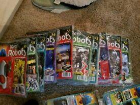 Real Robots cybot magazines 50-59 new sealed unused 10magazines