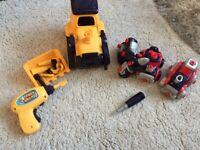 M&S take apart tractor & car