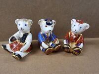 3 x Rare Retired Royal Crown Derby Bears - Shona, Schoolboy and Scottish Fraiser