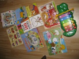 Bundle of toys Book and Puzzle