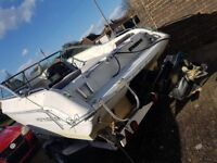 18ft boat 3.0l mercruiser with trailer