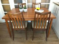 Midcentury Table and chairs free delivery Ldn g-plan