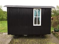 Shepherds Hut, new this year, complete & ready to go.