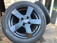 4 x Dezent DT Alloy Wheels with Nankang Winter Tyres