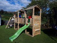 climbing frame and slide