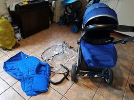 Oyster 2 Stroller Electric blue, can be used from birth