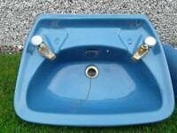 Royal Doulton Blue sink and toilet