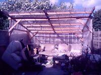 Wooden garden shelter 4x2.6m