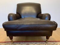 Gorgeous Laura Ashley Richmond New Espresso Leather Armchair - Great Condition