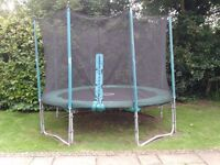 10ft TP Trampoline - Nets, Pads, Cover VGC